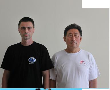 Майстор Сомов със своя ТайЧи учител Грандмайстор Чън Сяоуан