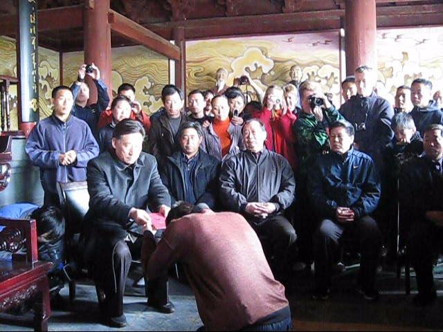 Церемония за приемане на Майстор Сомов за вътрешен ученик на Грандмайстор Чън Сяоуан