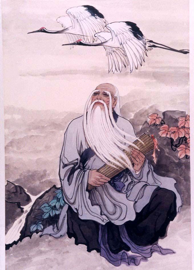 Лао Дзъ с написания от него трактат Дао Дъ дзин