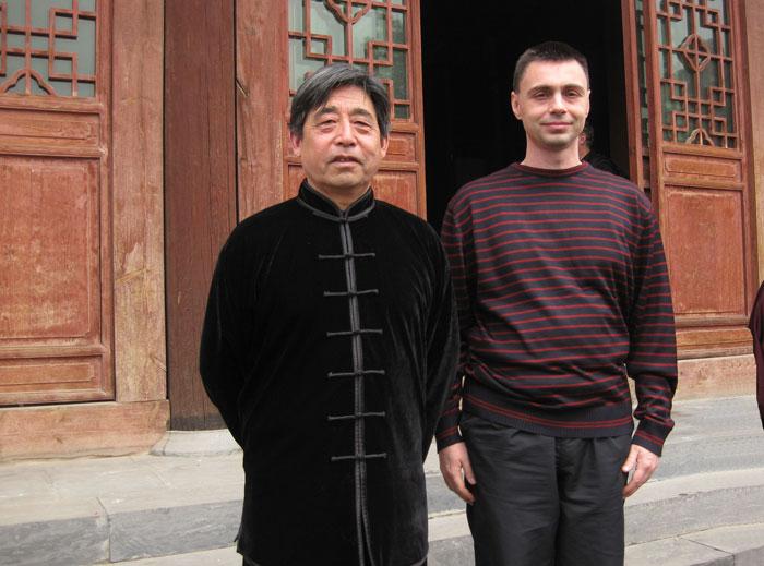 Майстор Сомов с Грандмайстор Чън Сяосин в Чъндзягоу, Китай