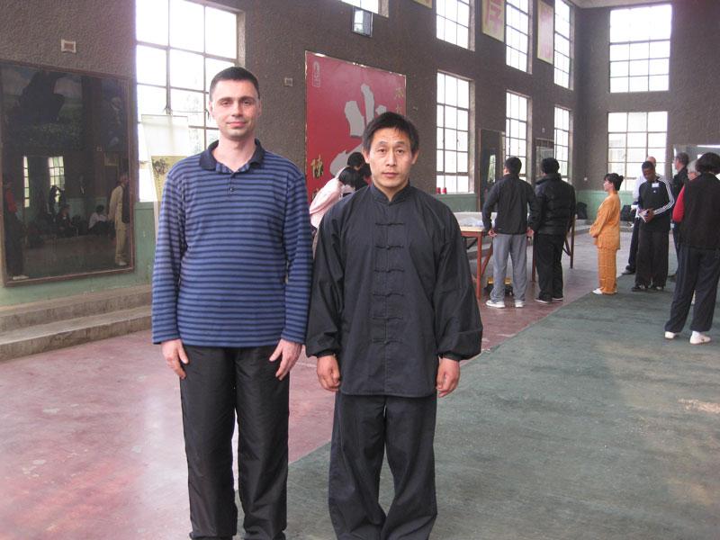 Майстор Сомов с Майстор Чън Джъцян в Чъндзягоу, Китай