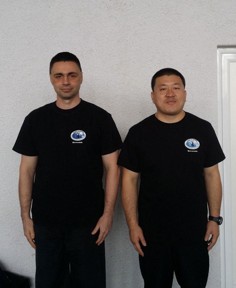 Майстор Чън Индзюн с Майстор Светослав Сомов