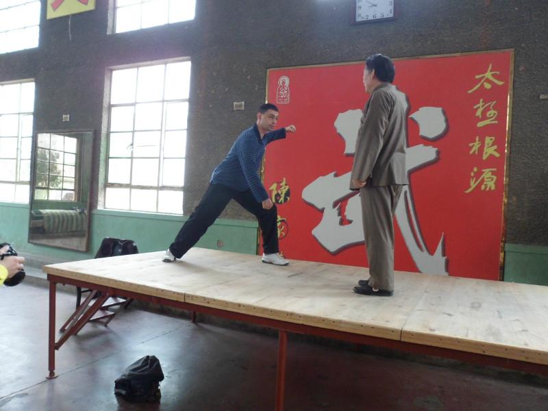 Майстор Сомов на тренировка по Тай Чи със своя учител Грандмайстор Чън