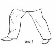 Упражнение крачката на тай чи - първо указание