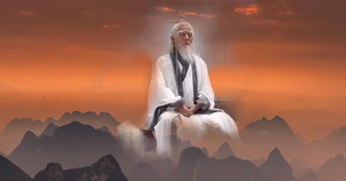 Мъдрец, медитиращ над трите съкровища на цигун