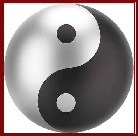 Монадата на ин и ян във форма на Тай Чи сфера