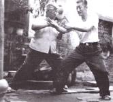 Chen Liqing and late Chen Lixian practicing Tui Shou