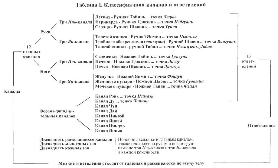 Классификация каналов и ответвлений