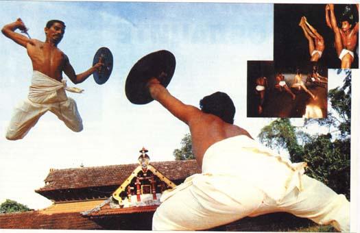 Тренировка по Каларипаят на двама бойци