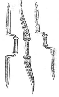 Кинжал с две остриета (маду)