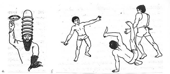 Боец - акал, който мята метателни дискове (чакри)