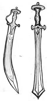 Сабя талвар и двуостър меч
