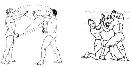 Бойци от Ваджра-Мусти с боксове