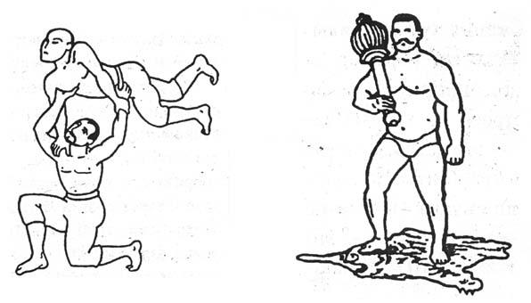 индийски борци - миниатюра